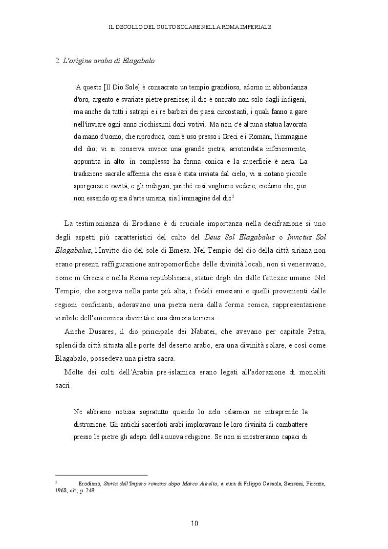 Anteprima della tesi: Il decollo del culto solare nella Roma imperiale, Pagina 7