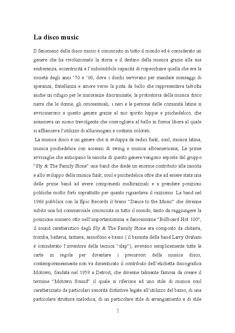 Anteprima della tesi: Il trattamento della musica disco nei film dell'epoca e successivi, Pagina 4