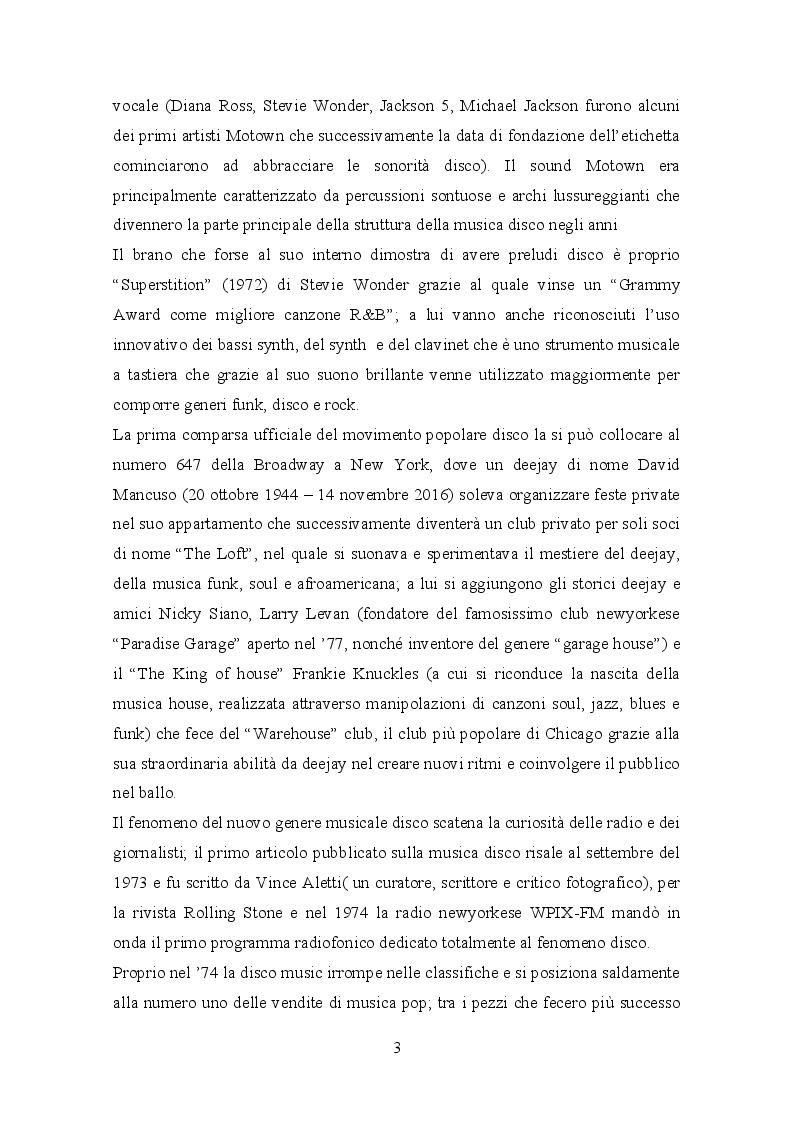 Anteprima della tesi: Il trattamento della musica disco nei film dell'epoca e successivi, Pagina 5