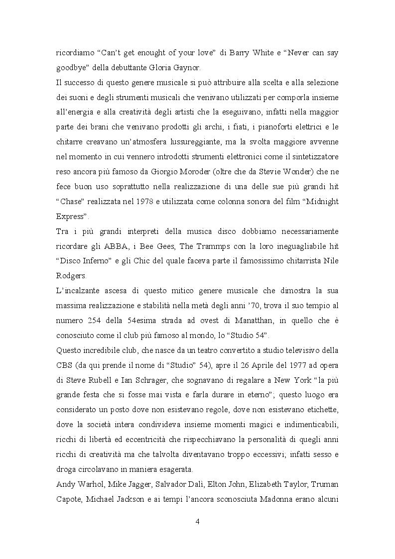 Anteprima della tesi: Il trattamento della musica disco nei film dell'epoca e successivi, Pagina 6
