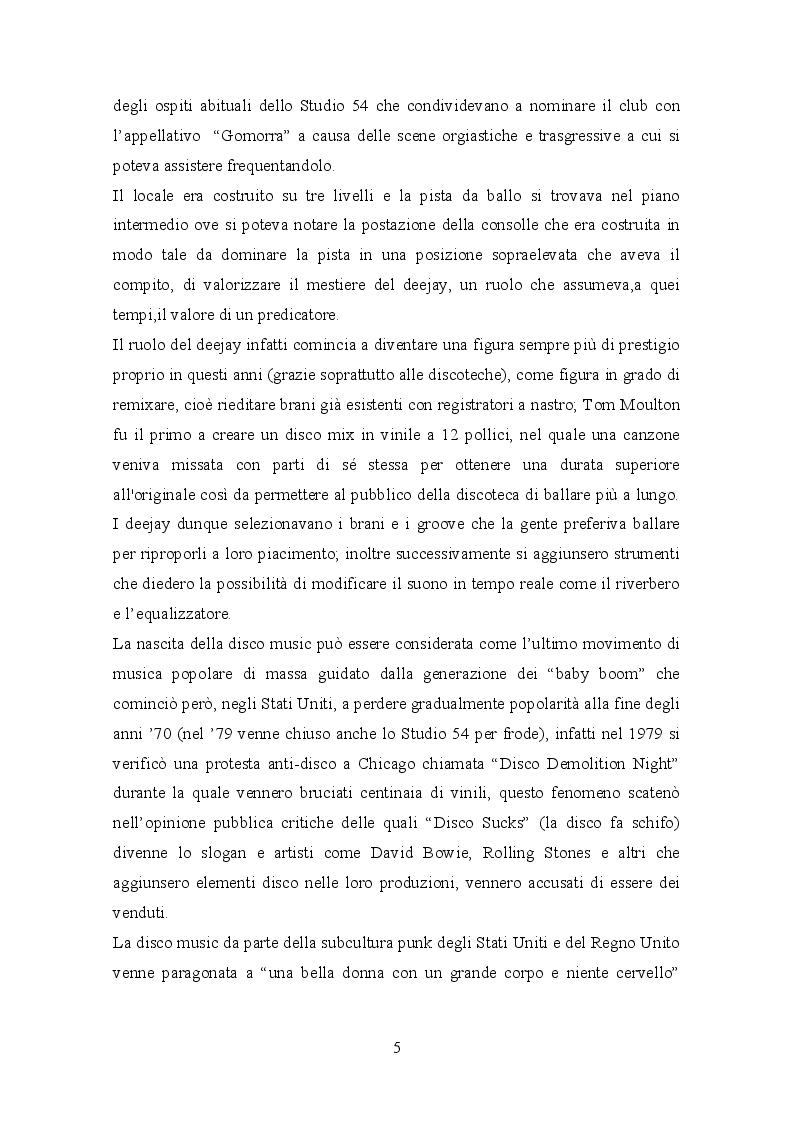 Anteprima della tesi: Il trattamento della musica disco nei film dell'epoca e successivi, Pagina 7