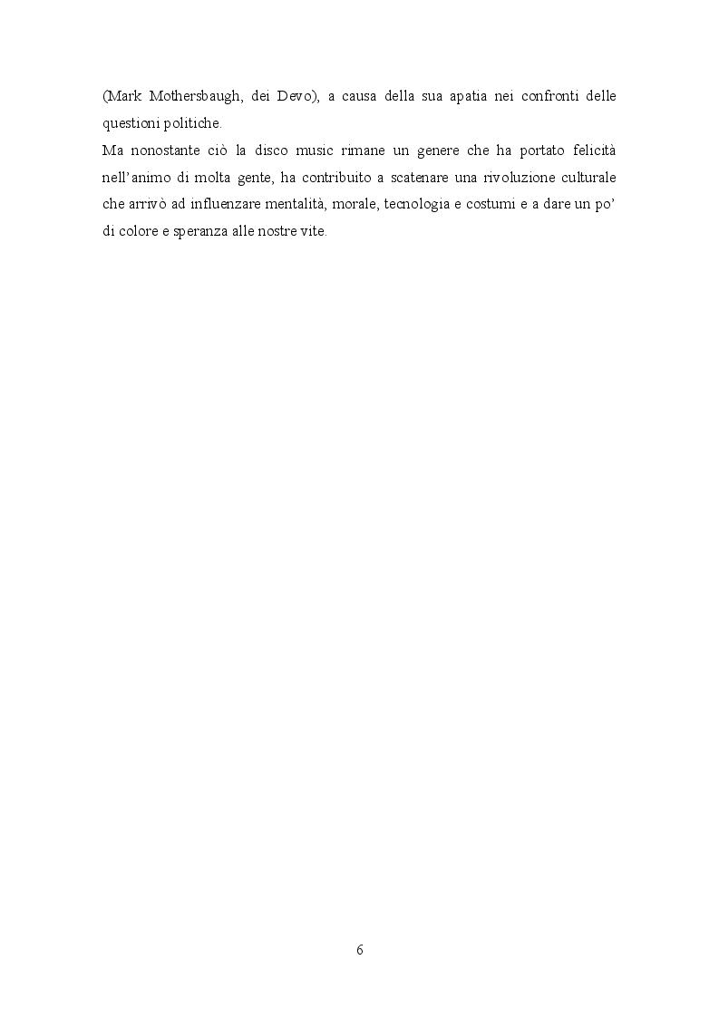 Anteprima della tesi: Il trattamento della musica disco nei film dell'epoca e successivi, Pagina 8