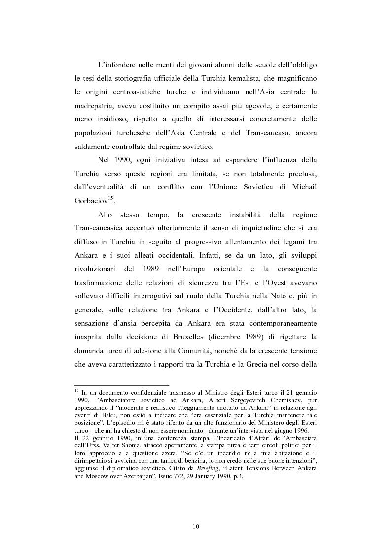 Anteprima della tesi: Lo spazio geopolitico turco e il crollo dell'Urss. La politica regionale della Turchia nella Transcaucasia e nell'Asia centrale., Pagina 10
