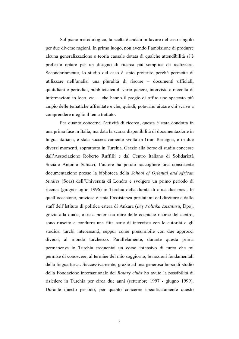 Anteprima della tesi: Lo spazio geopolitico turco e il crollo dell'Urss. La politica regionale della Turchia nella Transcaucasia e nell'Asia centrale., Pagina 4