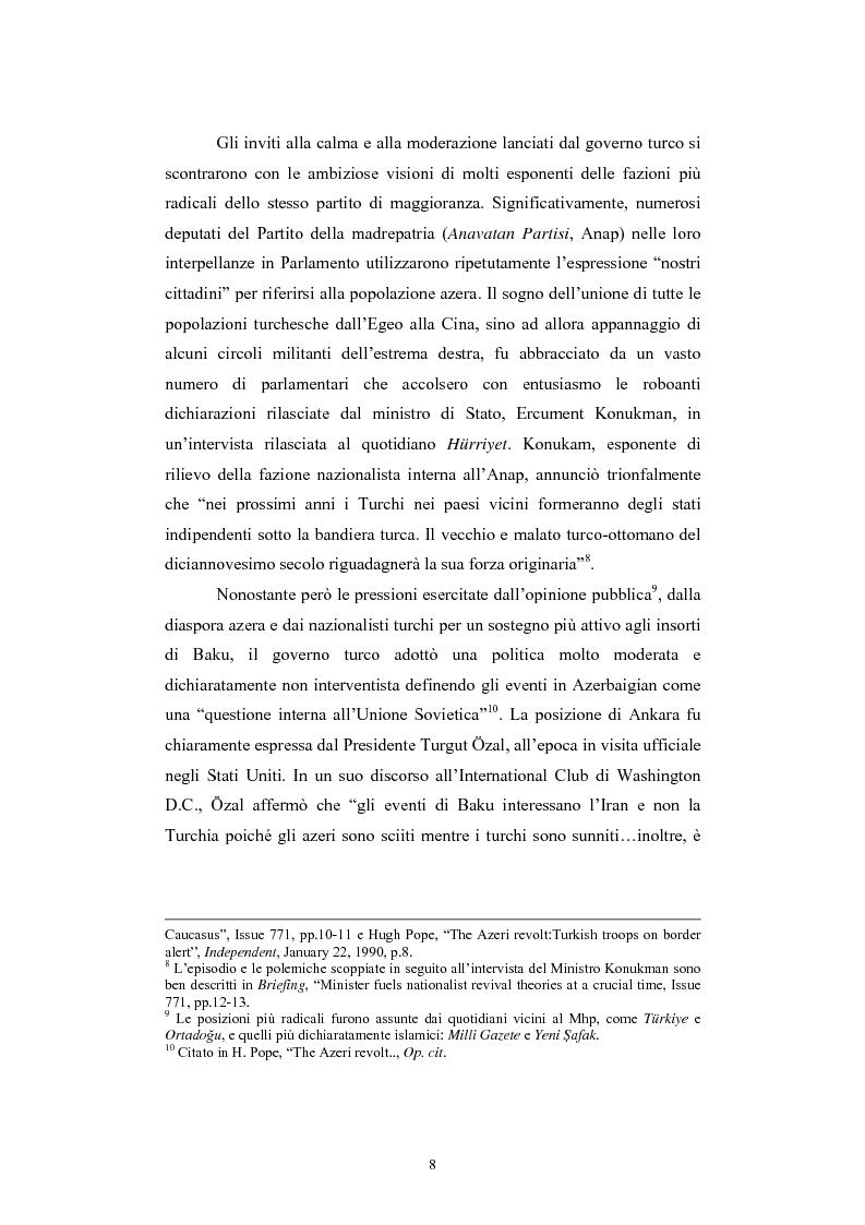 Anteprima della tesi: Lo spazio geopolitico turco e il crollo dell'Urss. La politica regionale della Turchia nella Transcaucasia e nell'Asia centrale., Pagina 8