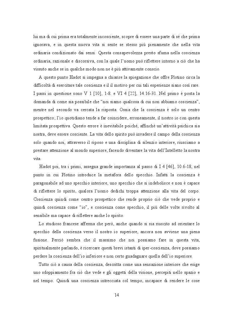 Estratto dalla tesi: Il lessico della coscienza in Plotino