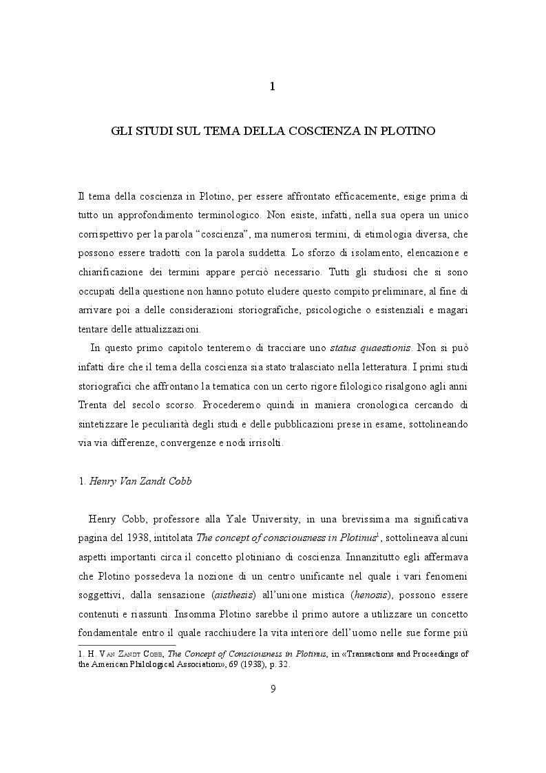 Anteprima della tesi: Il lessico della coscienza in Plotino, Pagina 5
