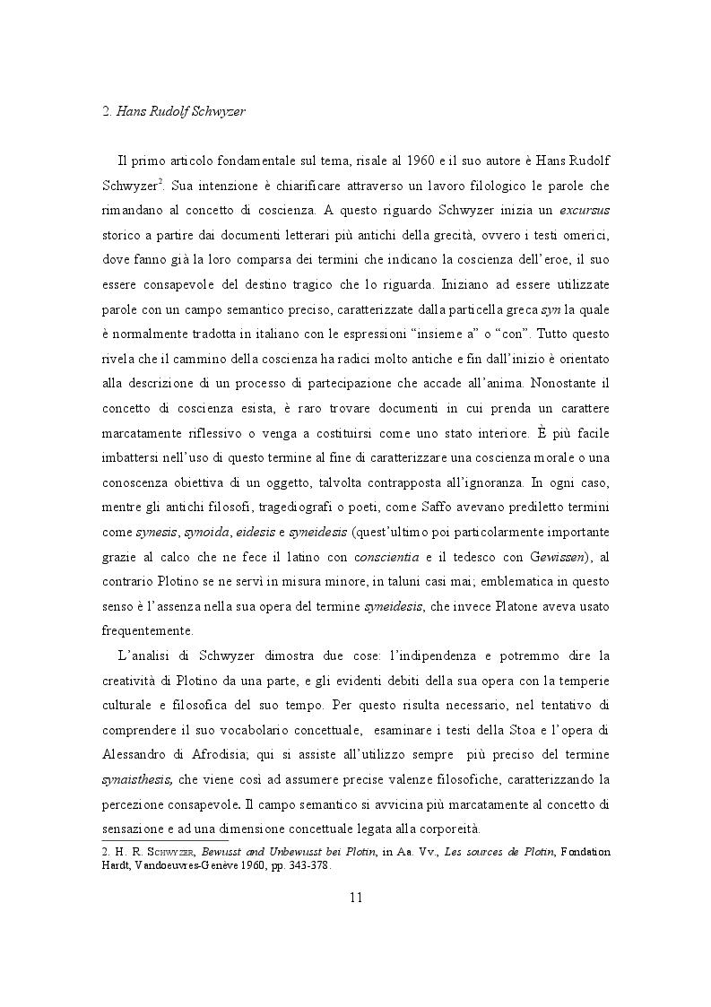 Anteprima della tesi: Il lessico della coscienza in Plotino, Pagina 7