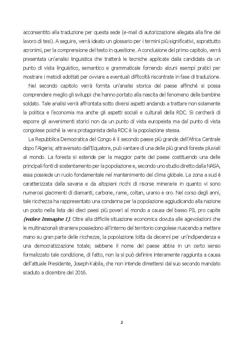 Anteprima della tesi: Child Soldiers International: la situazione delle bambine soldato nella Repubblica Democratica del Congo, Pagina 4