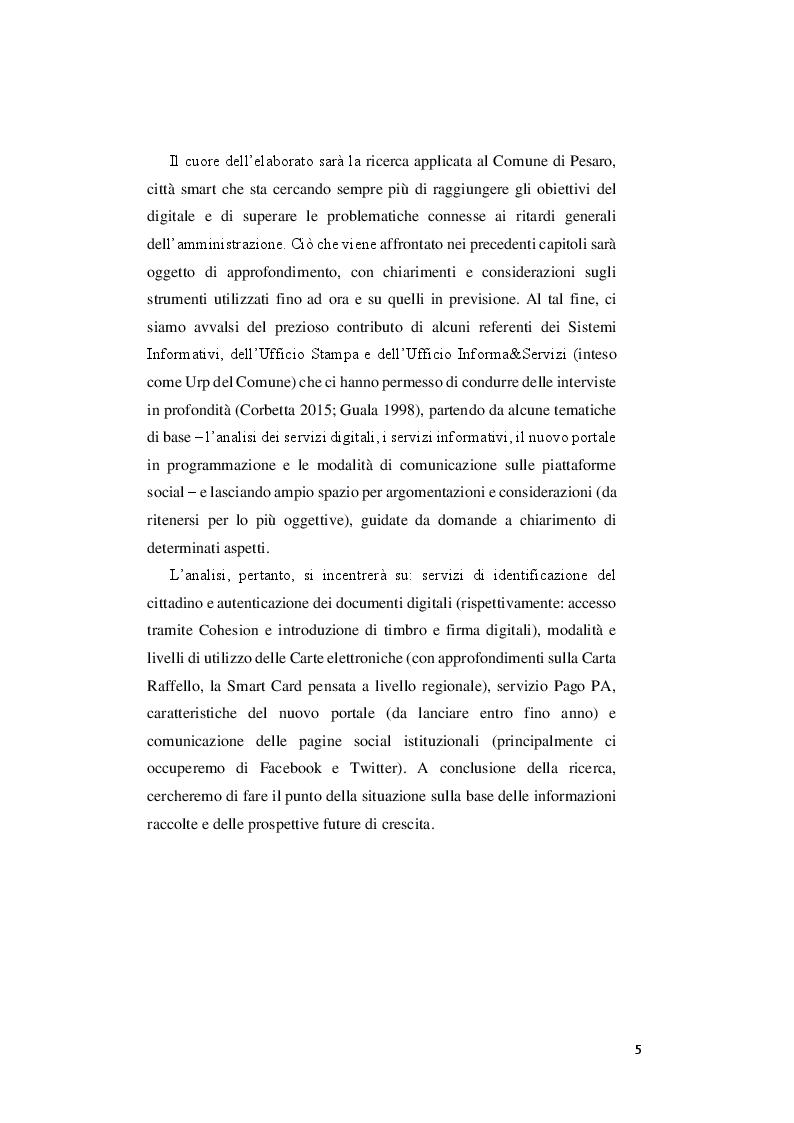 Anteprima della tesi: Le priorità del digitale e la svolta 3.0 del comune di Pesaro, Pagina 3