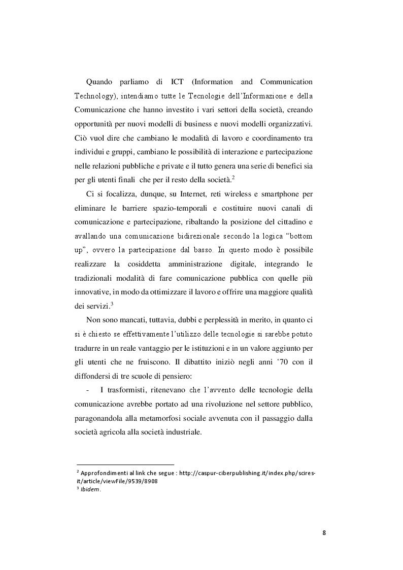 Anteprima della tesi: Le priorità del digitale e la svolta 3.0 del comune di Pesaro, Pagina 6