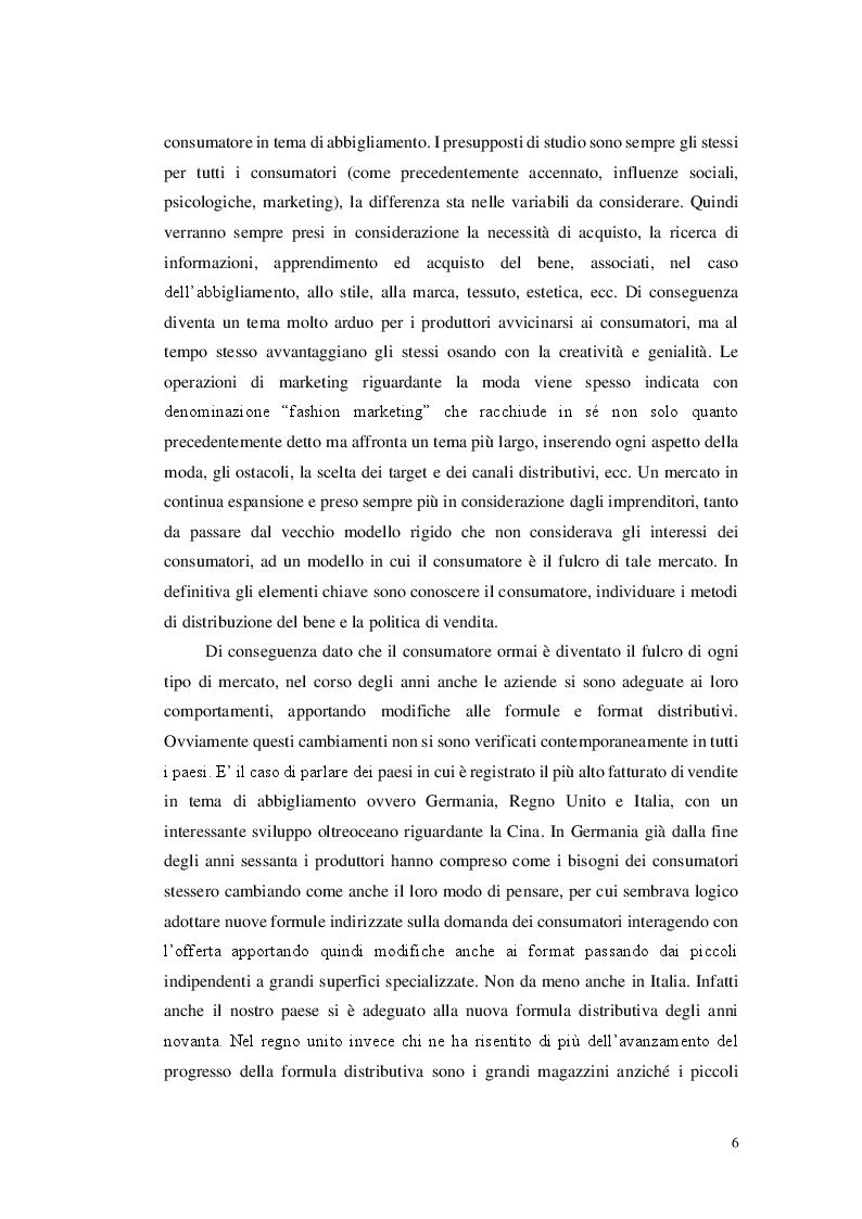 Anteprima della tesi: Il comportamento del consumatore nel comparto cheap fashion. Il caso Zara, Pagina 3