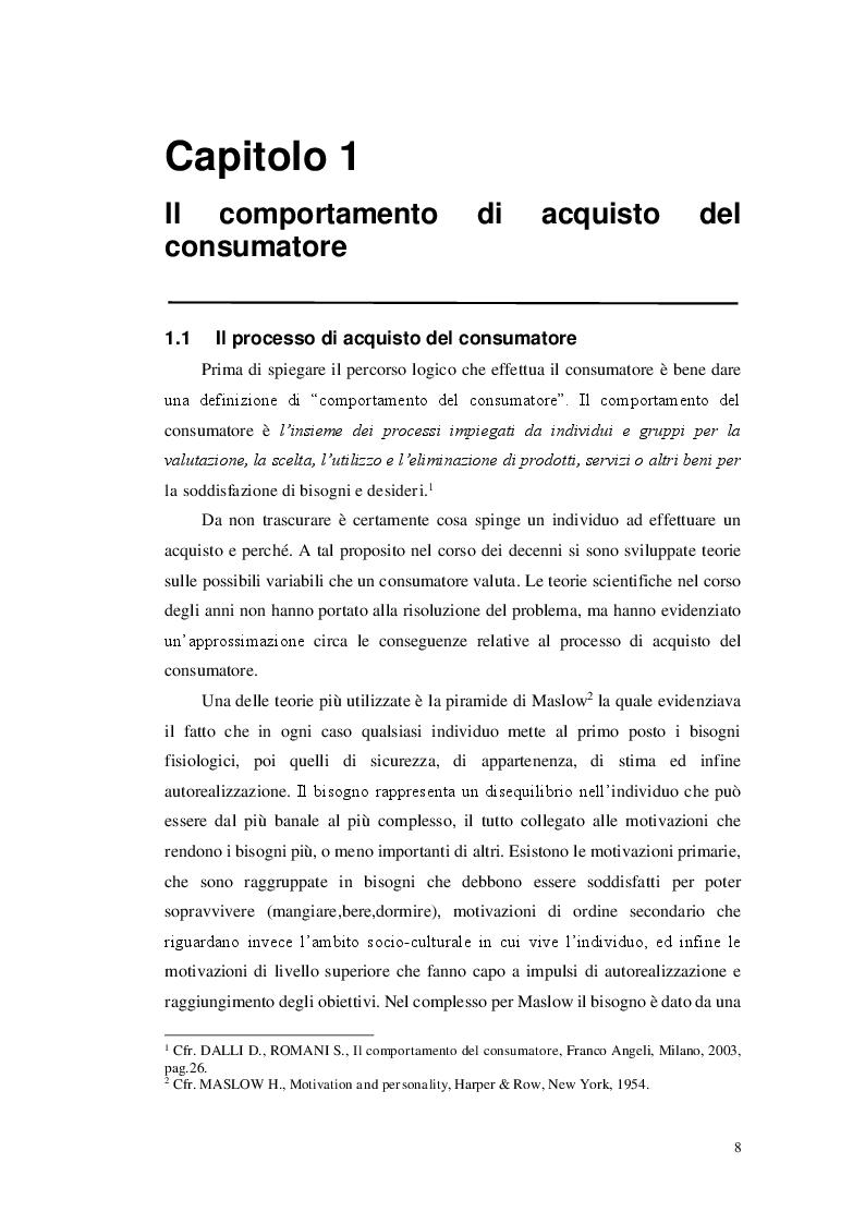 Anteprima della tesi: Il comportamento del consumatore nel comparto cheap fashion. Il caso Zara, Pagina 5