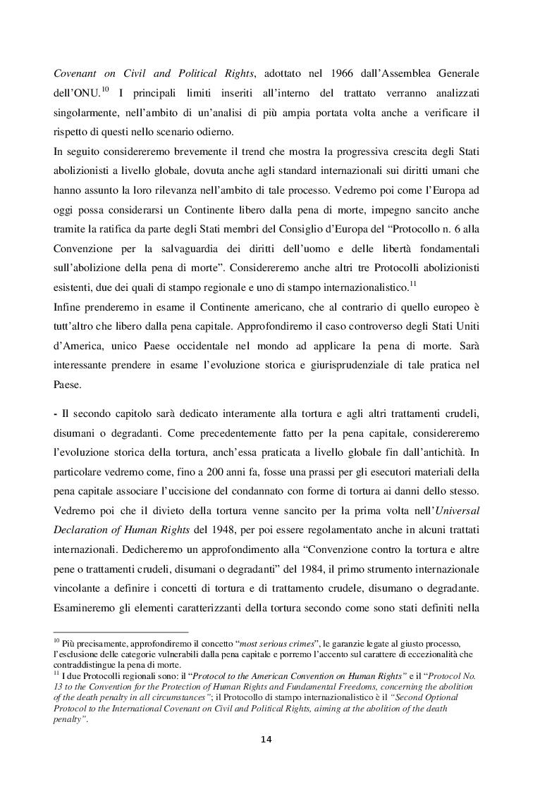Anteprima della tesi: L'esecuzione della pena di morte in relazione al divieto di tortura: una punizione disumana?, Pagina 5