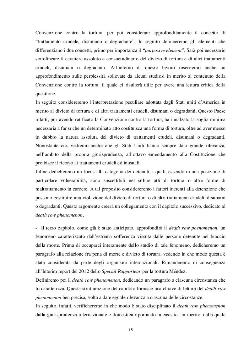 Anteprima della tesi: L'esecuzione della pena di morte in relazione al divieto di tortura: una punizione disumana?, Pagina 6