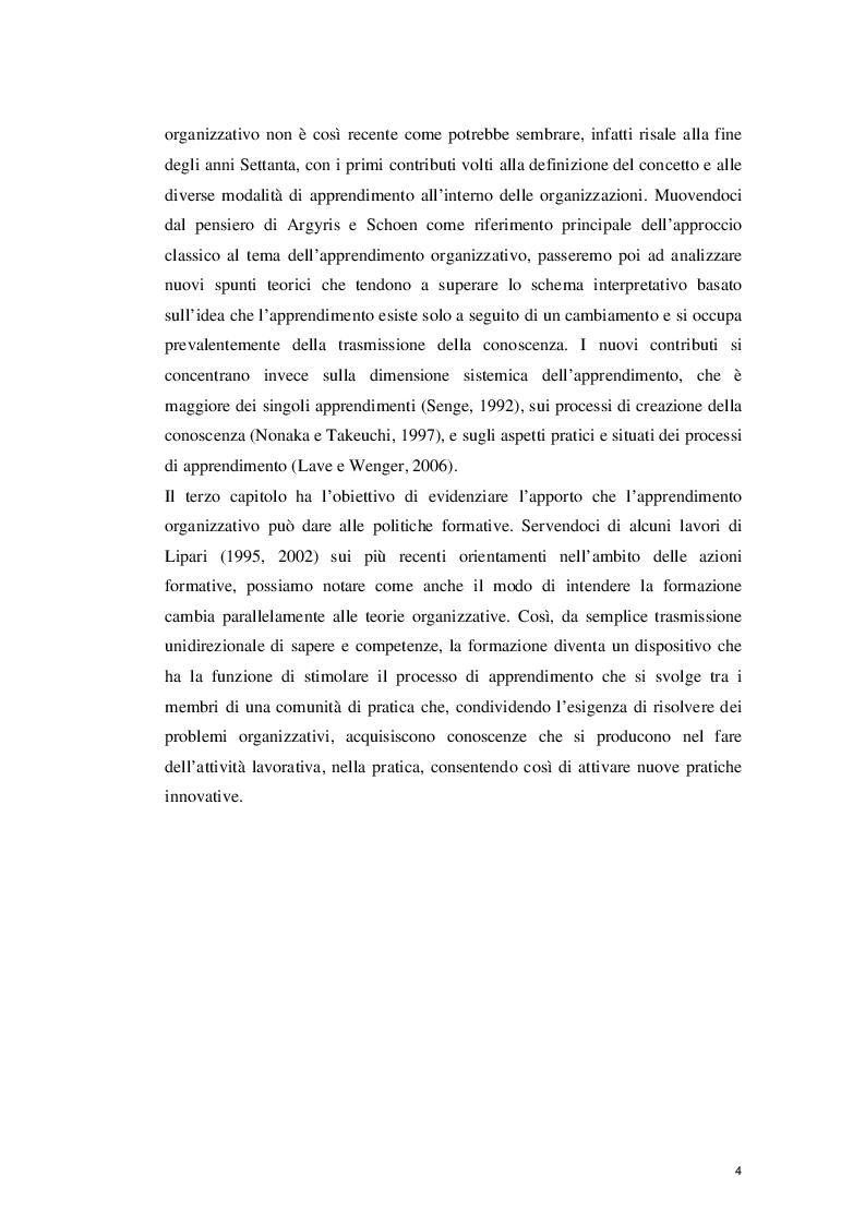 Anteprima della tesi: L'Apprendimento Organizzativo: spunti di riflessione, Pagina 5