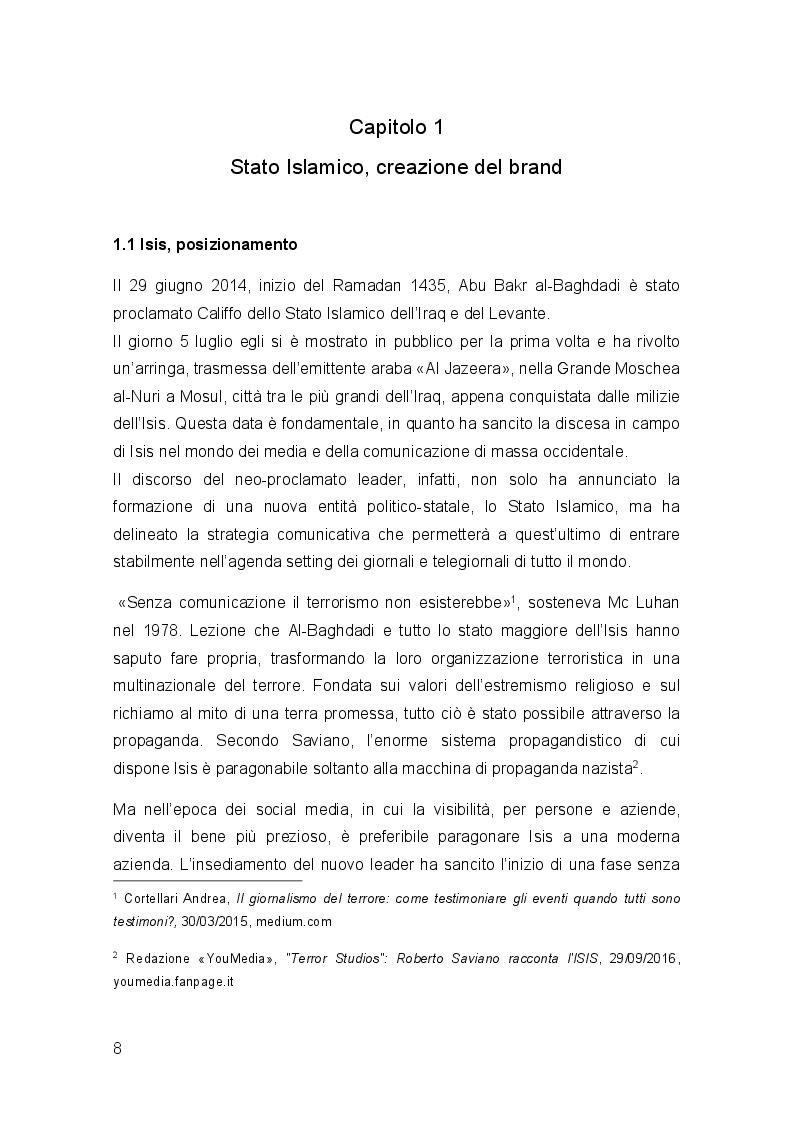 Anteprima della tesi: ISIS, know-how occidentale a servizio della propaganda jihadista, Pagina 5