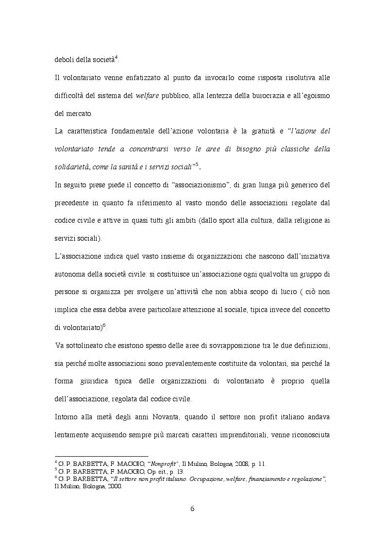Anteprima della tesi: Corporate  governance delle organizzazioni no profit, Pagina 3