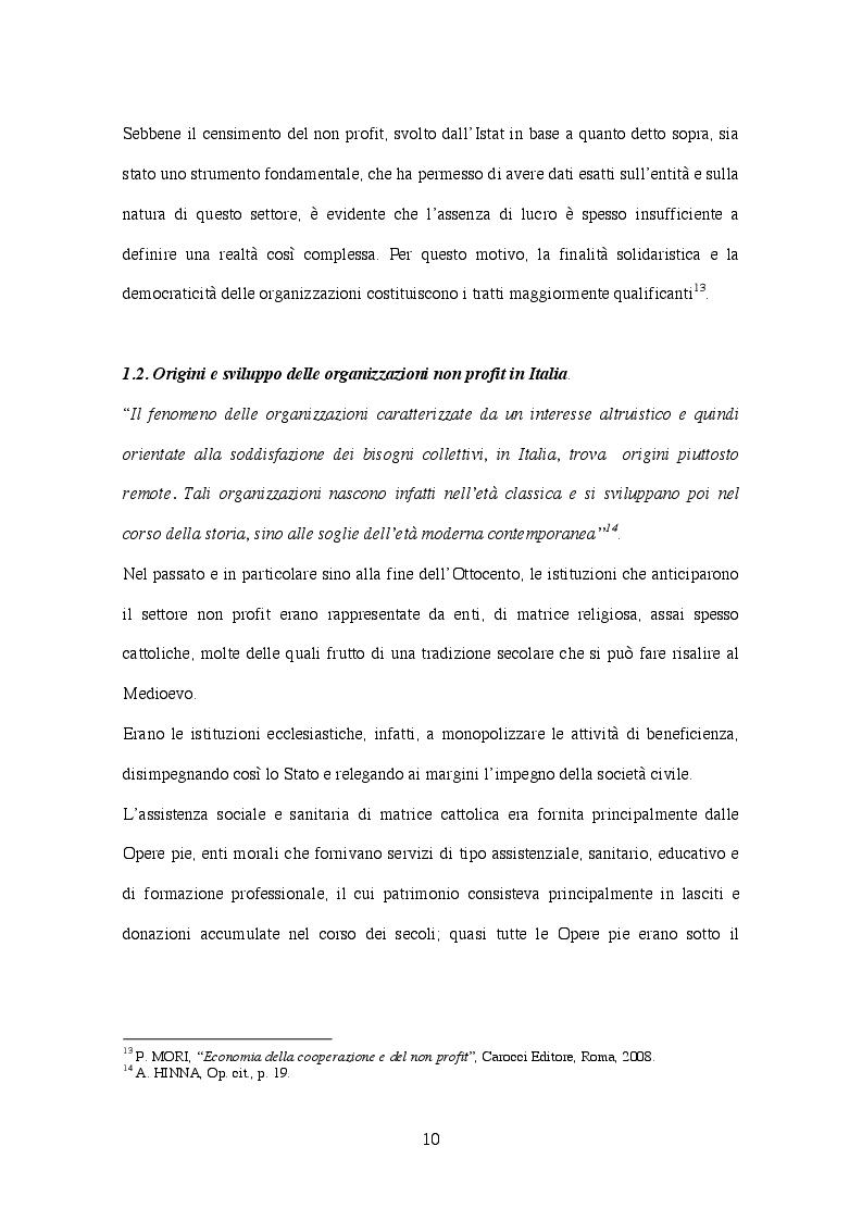 Anteprima della tesi: Corporate  governance delle organizzazioni no profit, Pagina 7