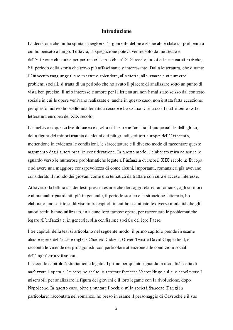 Anteprima della tesi: La figura del fanciullo nel romanzo europeo del XIX secolo, Pagina 2