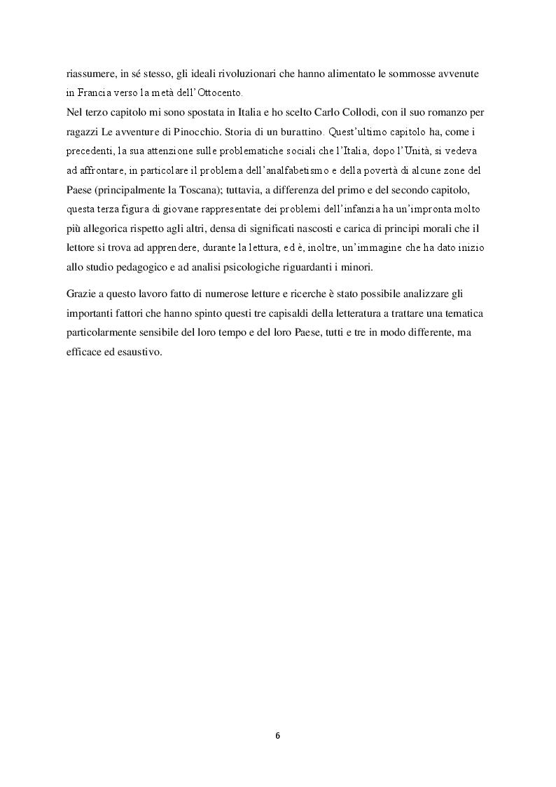 Anteprima della tesi: La figura del fanciullo nel romanzo europeo del XIX secolo, Pagina 3