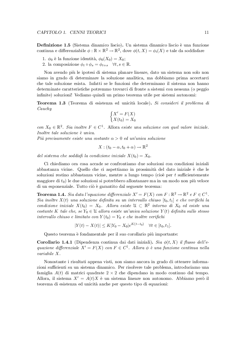 Estratto dalla tesi: Le equazioni differenziali in biologia
