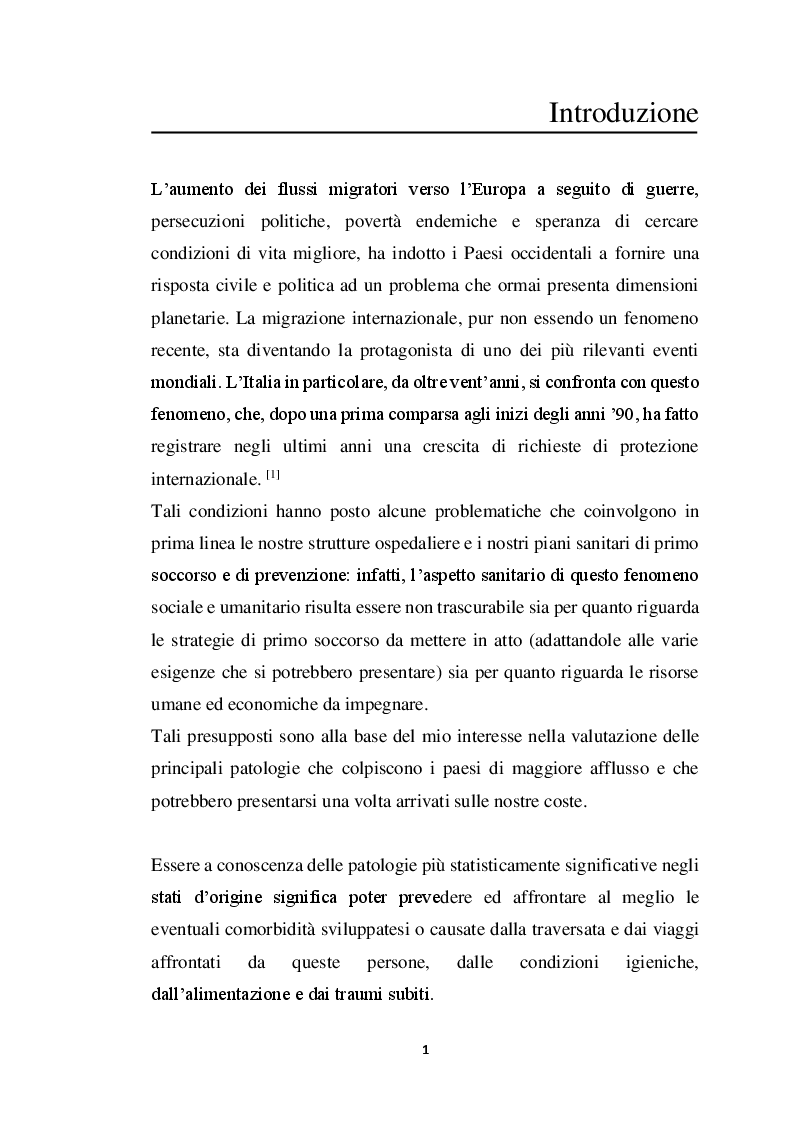 Anteprima della tesi: Incidenza di Patologia Chirurgica acuta in popolazione di migranti Studio osservazionale multicentrico, Pagina 2