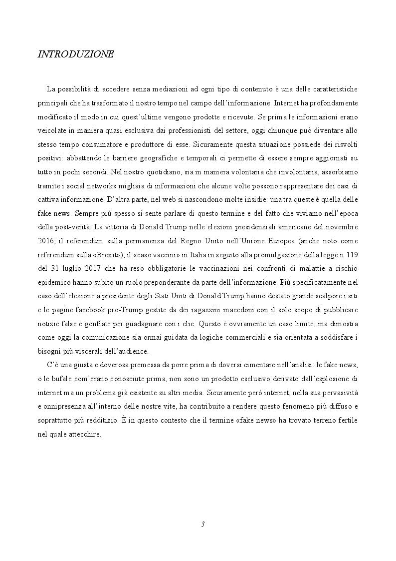 Anteprima della tesi: Le fake news nelle pagine facebook italiane, Pagina 2