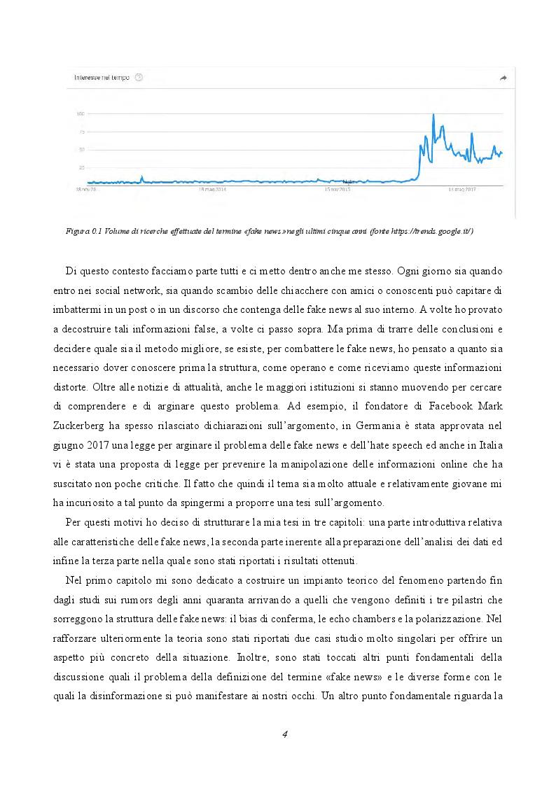 Anteprima della tesi: Le fake news nelle pagine facebook italiane, Pagina 3