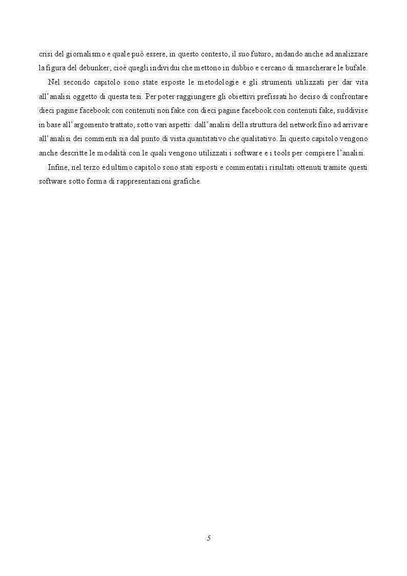 Anteprima della tesi: Le fake news nelle pagine facebook italiane, Pagina 4