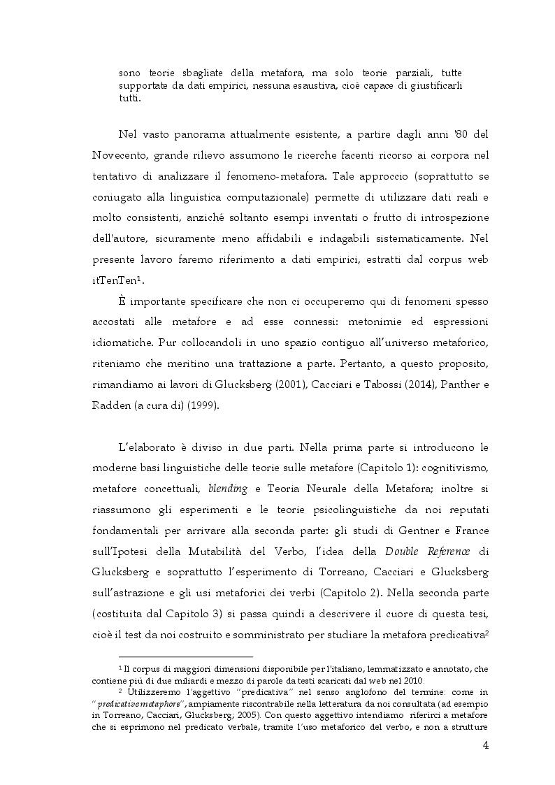 Anteprima della tesi: Si può rottamare la speranza? Uno studio psicolinguistico sull'uso metaforico dei verbi in italiano, Pagina 3