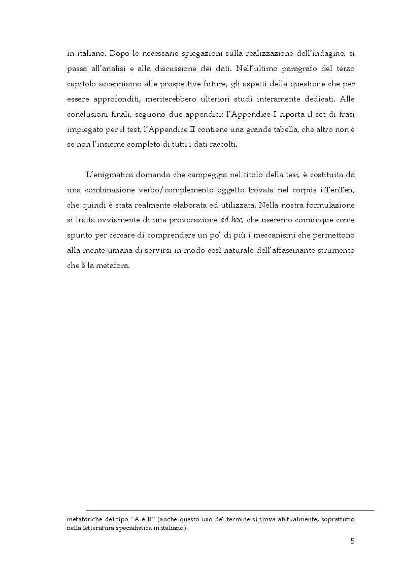 Anteprima della tesi: Si può rottamare la speranza? Uno studio psicolinguistico sull'uso metaforico dei verbi in italiano, Pagina 4