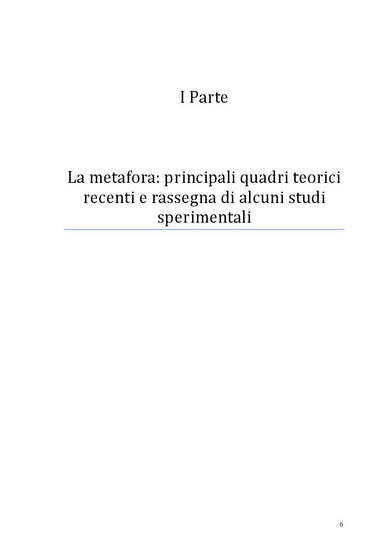 Anteprima della tesi: Si può rottamare la speranza? Uno studio psicolinguistico sull'uso metaforico dei verbi in italiano, Pagina 5