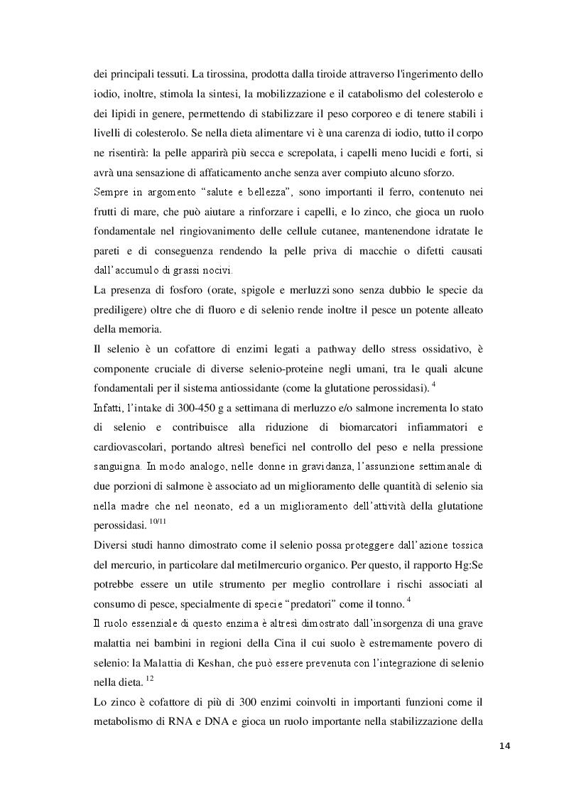 Estratto dalla tesi: Consumo abituale di pesce nella popolazione ligure: effetti attesi sulla salute