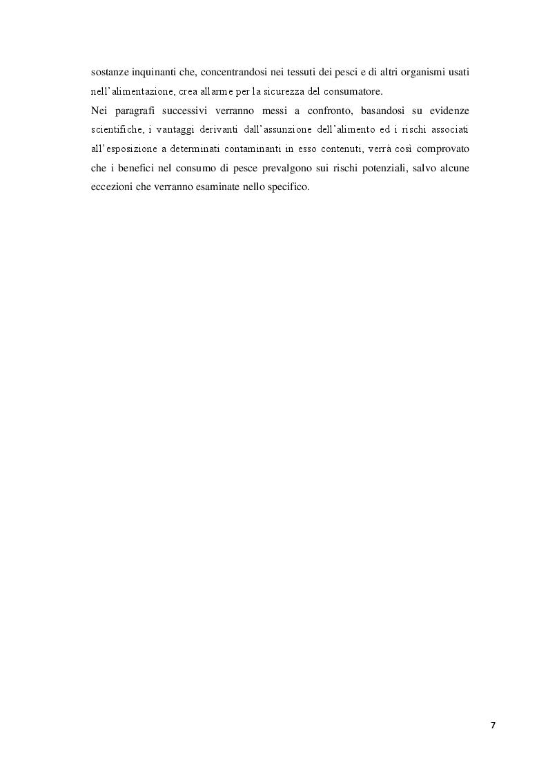 Anteprima della tesi: Consumo abituale di pesce nella popolazione ligure: effetti attesi sulla salute, Pagina 3
