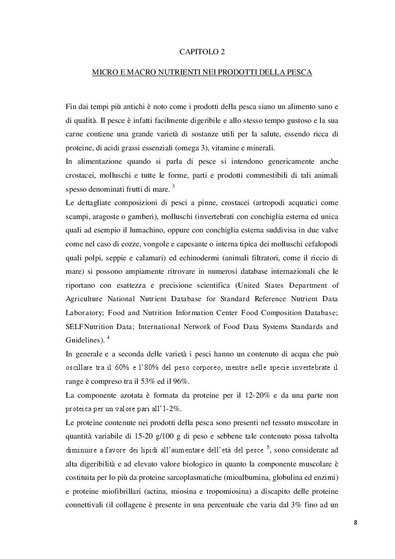 Anteprima della tesi: Consumo abituale di pesce nella popolazione ligure: effetti attesi sulla salute, Pagina 4