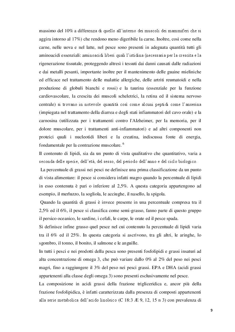 Anteprima della tesi: Consumo abituale di pesce nella popolazione ligure: effetti attesi sulla salute, Pagina 5