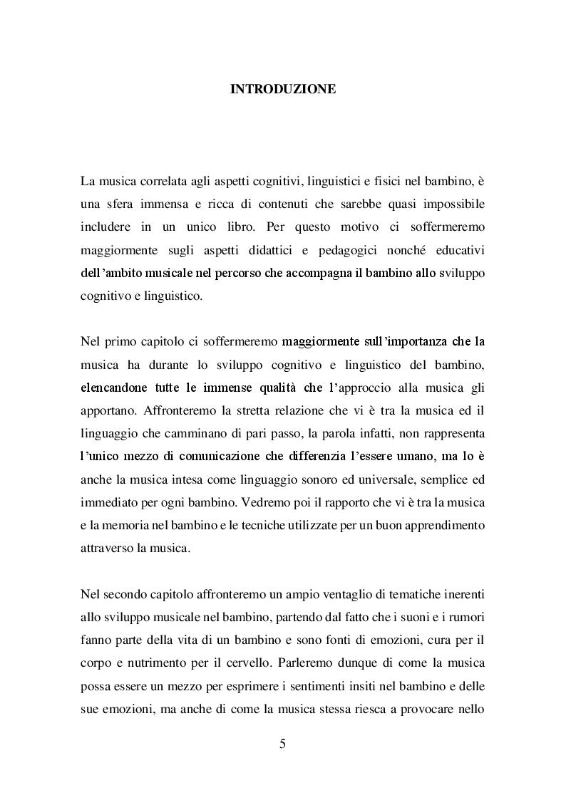 Anteprima della tesi: Il valore della musica nello sviluppo del bambino, Pagina 2