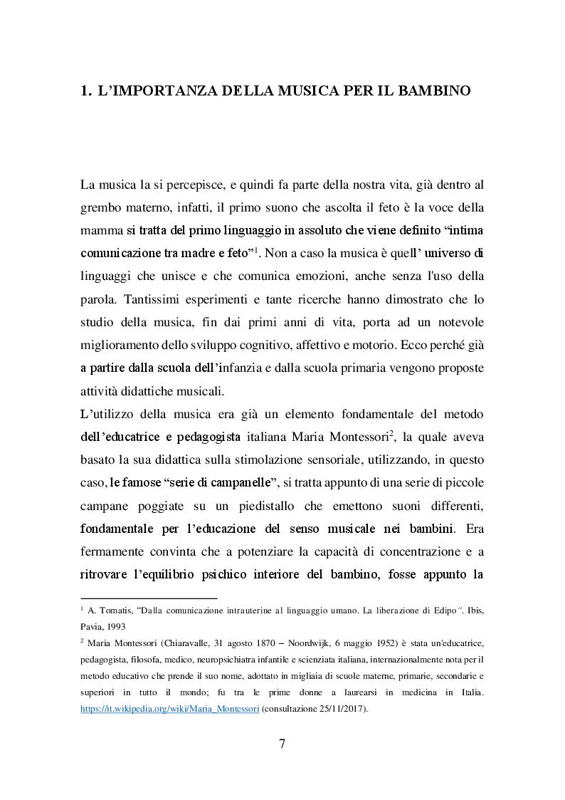 Anteprima della tesi: Il valore della musica nello sviluppo del bambino, Pagina 4