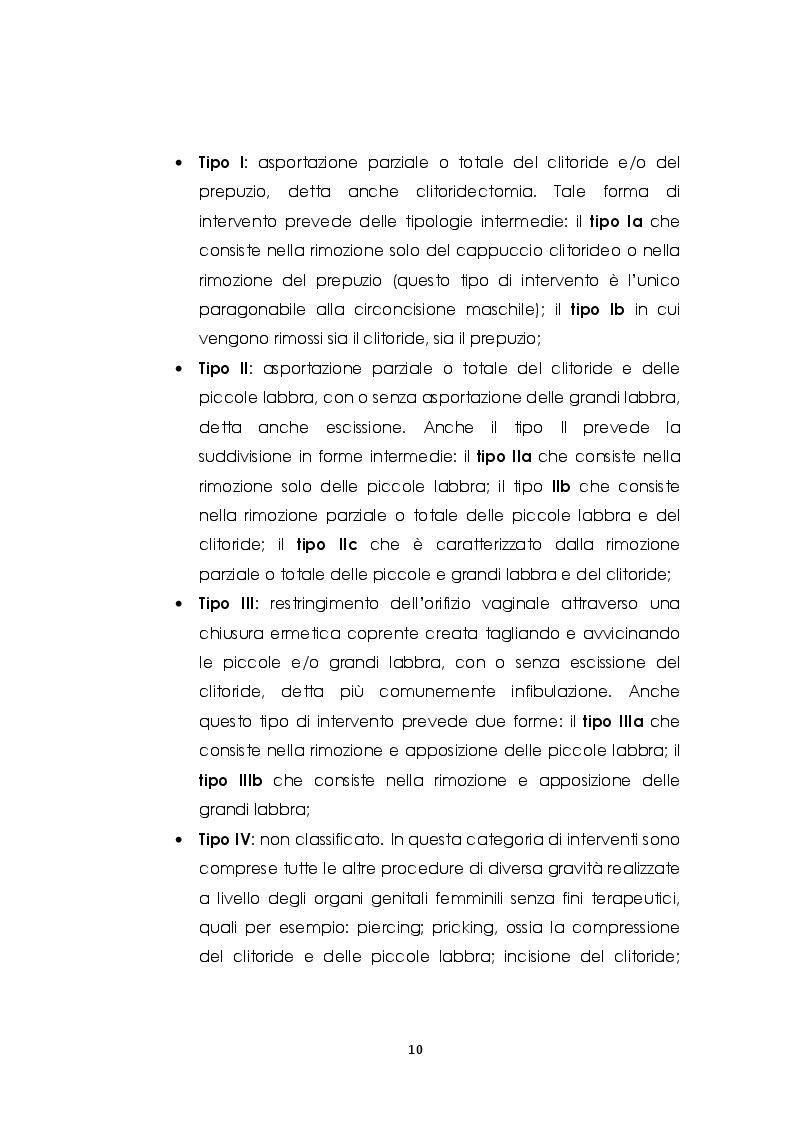 Anteprima della tesi: Le mutilazioni genitali femminili: fra etnocentrismo e relativismo culturale, Pagina 7