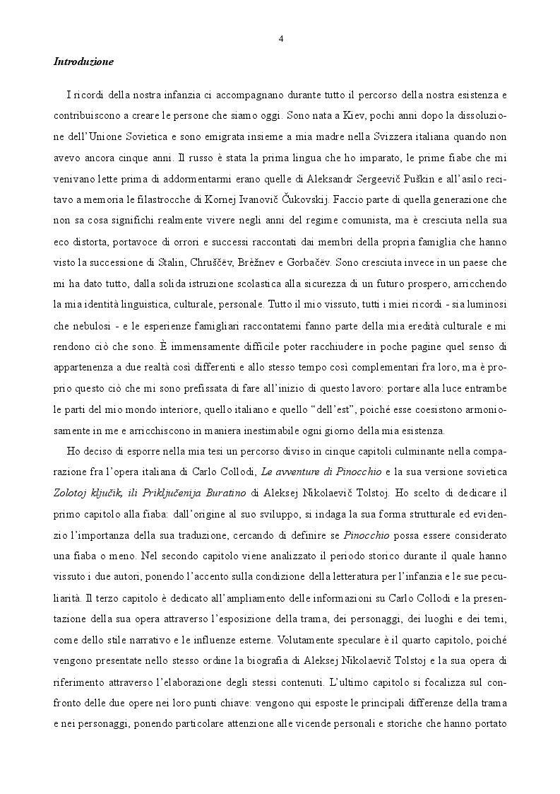 Anteprima della tesi: Pinocchio fra Est e Ovest. Analisi comparata del burattino italiano e della sua versione sovietica., Pagina 2