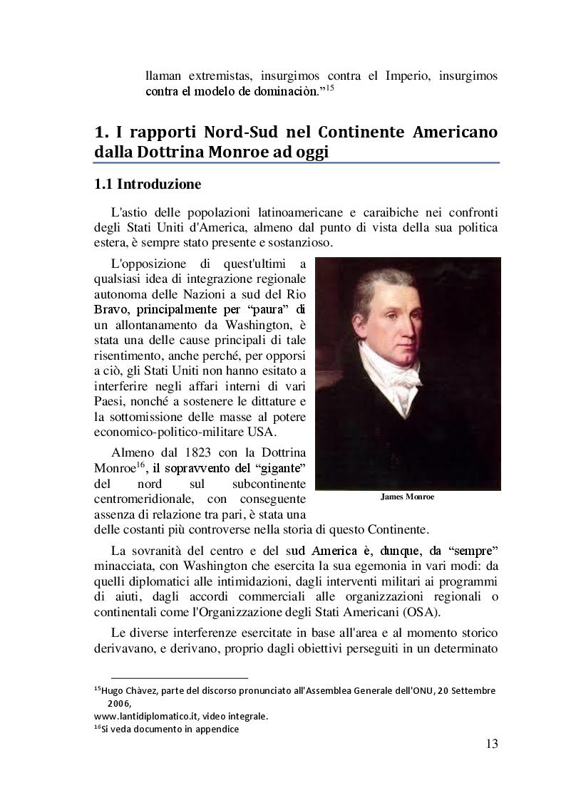 Anteprima della tesi: I difficili rapporti USA-ALC e gli sviluppi del regionalismo anti-egemonico, Pagina 10