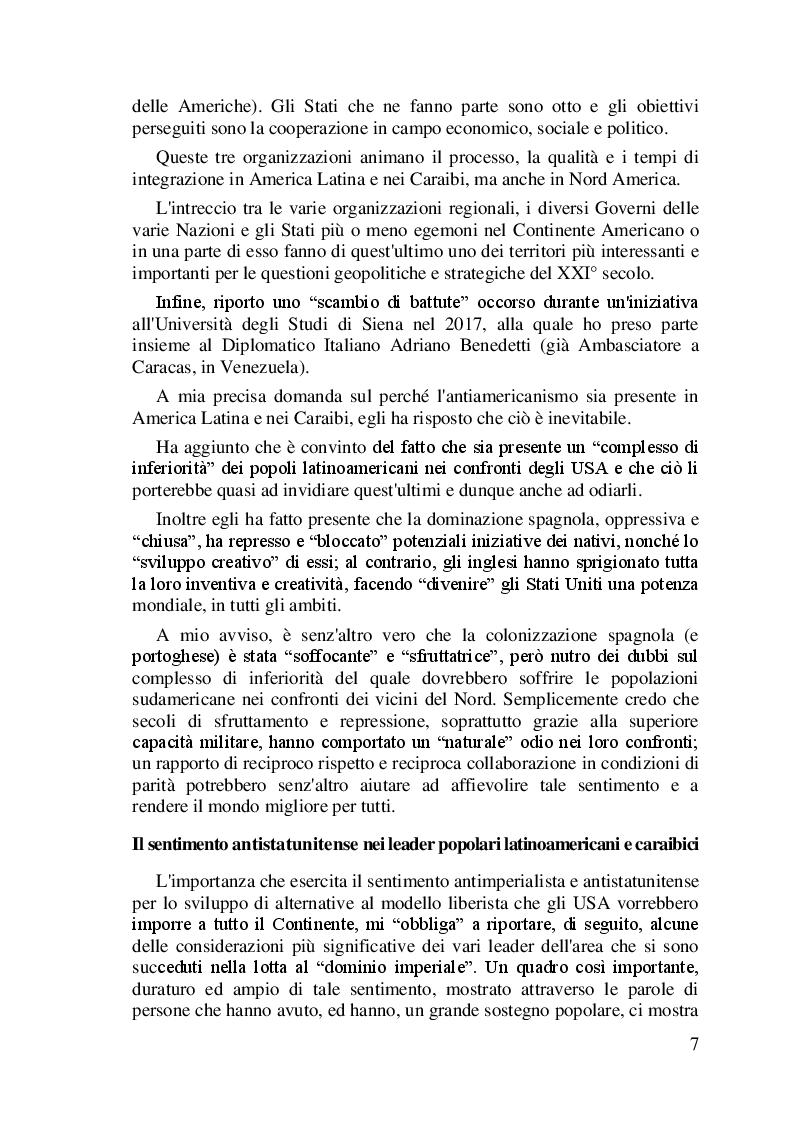 Anteprima della tesi: I difficili rapporti USA-ALC e gli sviluppi del regionalismo anti-egemonico, Pagina 4
