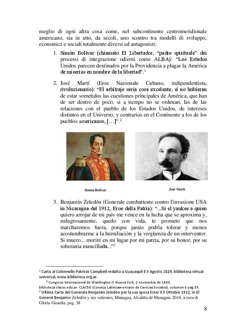 Anteprima della tesi: I difficili rapporti USA-ALC e gli sviluppi del regionalismo anti-egemonico, Pagina 5