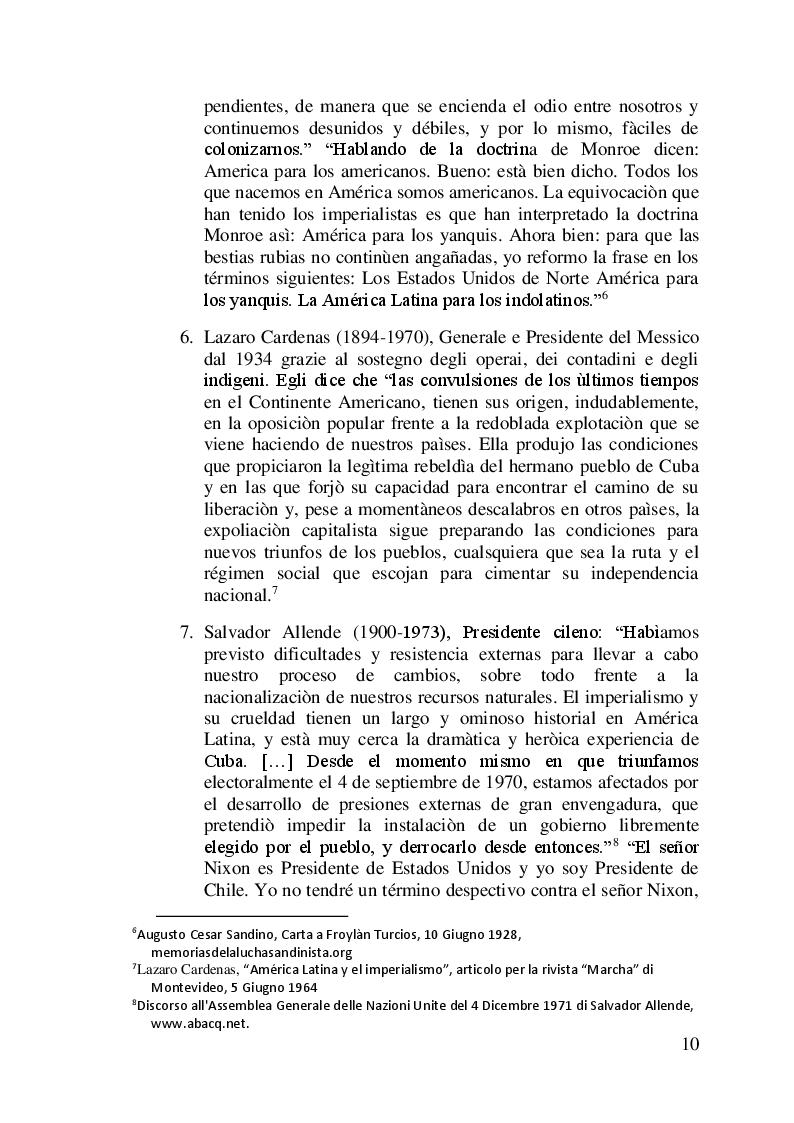 Anteprima della tesi: I difficili rapporti USA-ALC e gli sviluppi del regionalismo anti-egemonico, Pagina 7