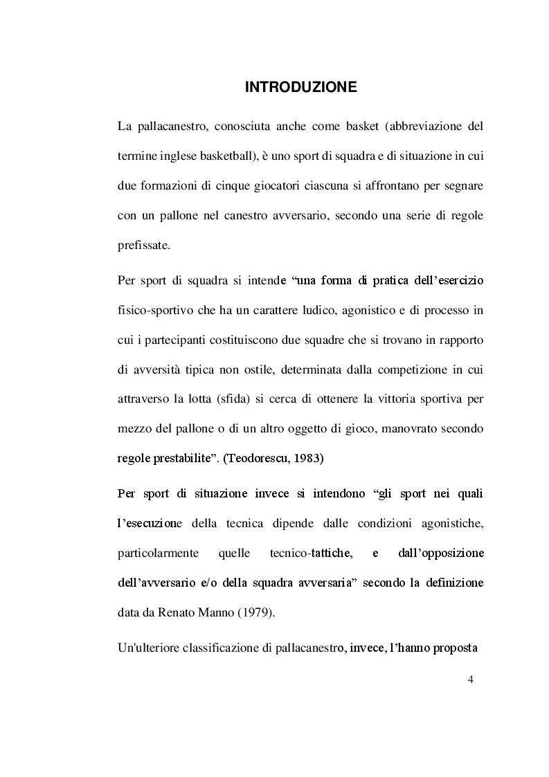 Anteprima della tesi: Evoluzione, tecnica e tattica della difesa individuale nella pallacanestro, Pagina 2