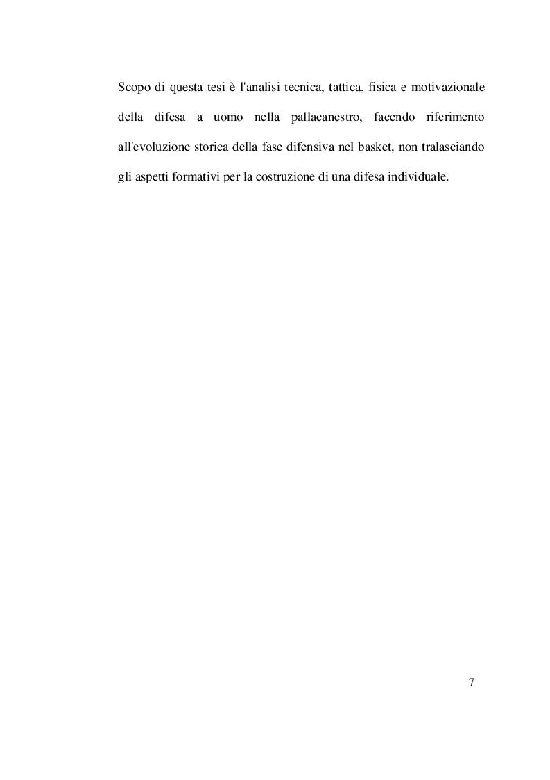 Anteprima della tesi: Evoluzione, tecnica e tattica della difesa individuale nella pallacanestro, Pagina 5