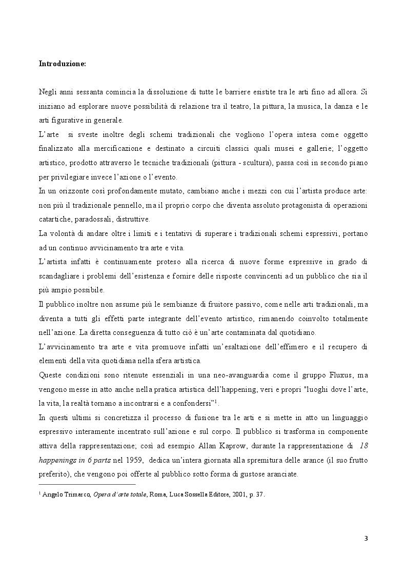 Anteprima della tesi: Rito e Catarsi nell'opera artistica di Hermann Nitsch, Pagina 2