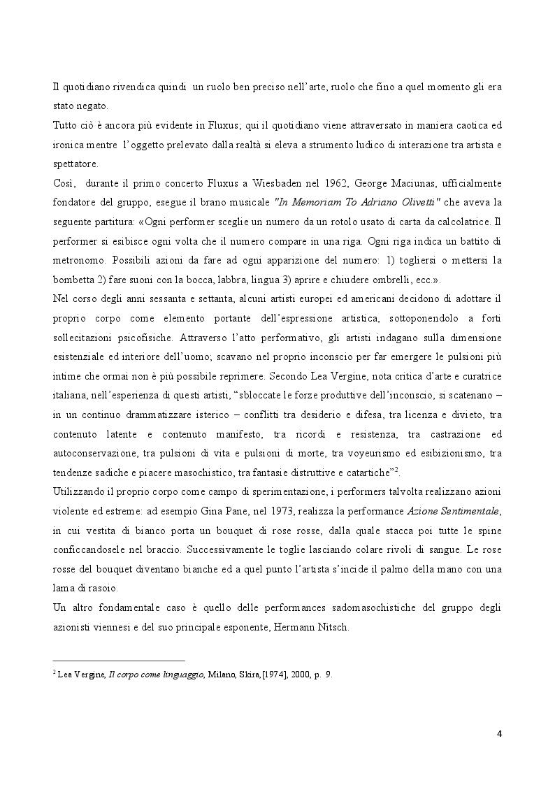 Anteprima della tesi: Rito e Catarsi nell'opera artistica di Hermann Nitsch, Pagina 3