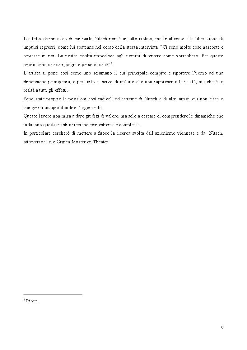 Anteprima della tesi: Rito e Catarsi nell'opera artistica di Hermann Nitsch, Pagina 5